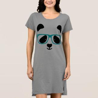 Cute Panda Face Aqua Dress