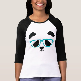 Cute Panda Face Aqua T-Shirt