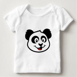 Baby Fine Jersey T-Shirt with Cute Panda Face design