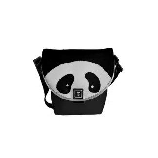 Cute PANDA FACE black white Courier Bag