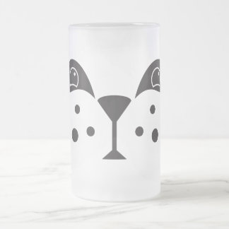 Cute Panda Face Frosted Glass Beer Mug