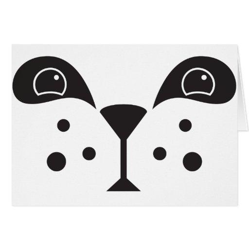 Cute Panda Face Greeting Card