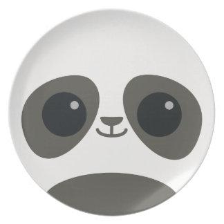 Cute Panda Face Plate