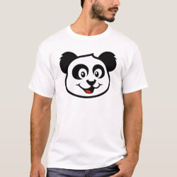 Men's Basic T-Shirt with Cute Panda Face design