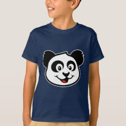Kids' Hanes TAGLESS® T-Shirt with Cute Panda Face design
