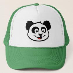 Trucker Hat with Cute Panda Face design
