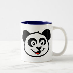 Two-Tone Mug with Cute Panda Face design