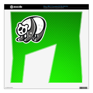Cute Panda; Green Skin For Xbox 360 S