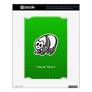 Cute Panda; Green NOOK Decal