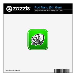Cute Panda; Green Skin For The iPod Nano
