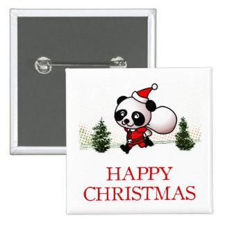 Cute Panda Happy Christmas Button