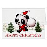 Cute Panda Happy Christmas Card