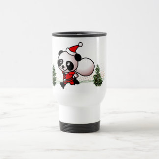 Cute Panda Happy Christmas 15 Oz Stainless Steel Travel Mug