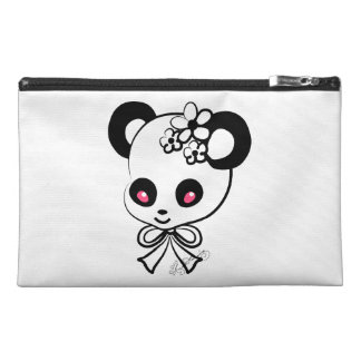 Cute Panda  Heads black & White Travel Accessory Bag
