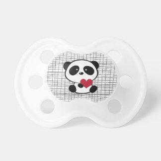 Cute Panda Heart Pacifier