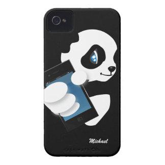 Cute Panda Holding iPhone iPhone Case