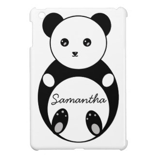 Cute Panda Illustration iPad Mini Case