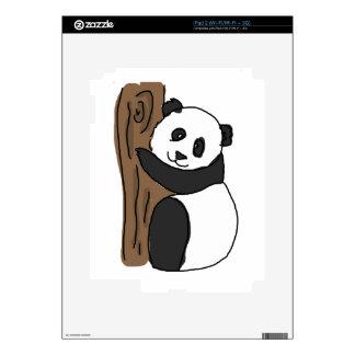 Cute Panda In A Tree Digital Trawing iPad 2 Decals