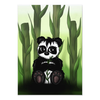 "cute Panda invitation 5"" X 7"" Invitation Card"