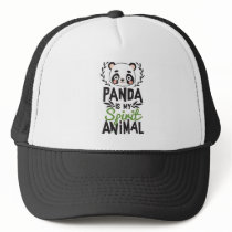 Cute Panda Is My Spirit Animal Print Trucker Hat