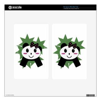 Cute panda kindle fire decal