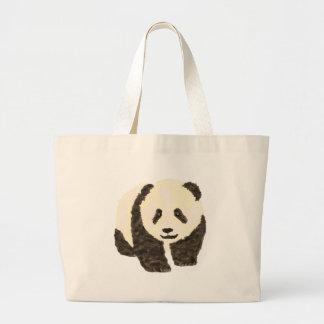 Cute Panda Large Tote Bag