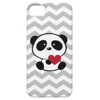Cute Panda Love Chevron Pattern iPhone 5 Case