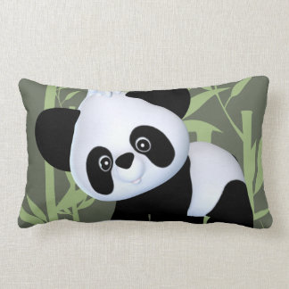 Cute Panda Lumbar Pillow