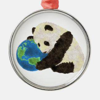 Cute Panda Metal Ornament