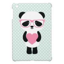 Cute Panda Mint/Pink Cover For The iPad Mini
