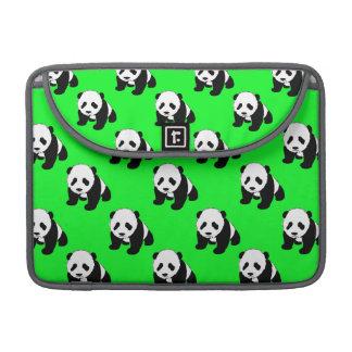Cute Panda; Neon Green, Black & White Sleeve For MacBook Pro