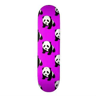 Cute Panda; Neon Purple, Black & White Skateboard Decks