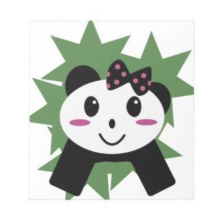 Cute panda note pad
