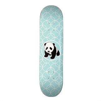 Cute Panda on Baby Blue Circles Skateboard Deck