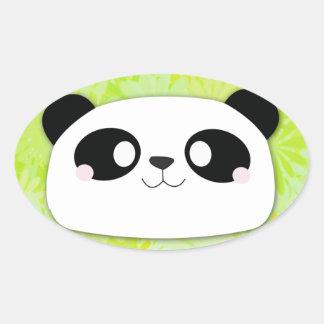 Cute Panda Oval Stickers
