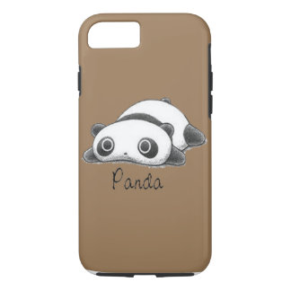 Cute Panda Pale Brown iPhone 7 Case