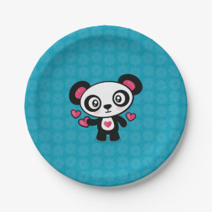 Cute Panda paper plates  sc 1 st  Zazzle & Love Panda Plates | Zazzle