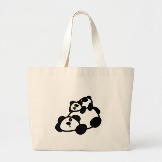 Cute Panda Parent & Cub Bag