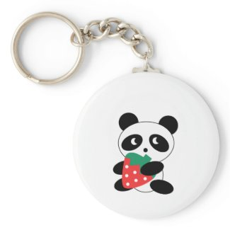 Cute Panda Party Pack keychain