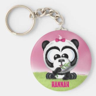 Cute Panda Personalized Keychain