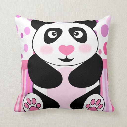 Cute Panda Pillow : Cute panda pillow Zazzle