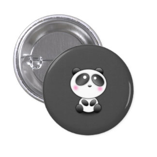 Cute Panda Pinback Button