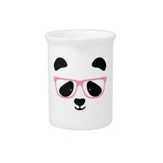 Cute Panda Pink Drink Pitcher