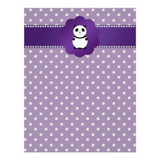 Cute panda purple diamonds full color flyer