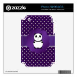 Cute panda purple diamonds skin for iPhone 3