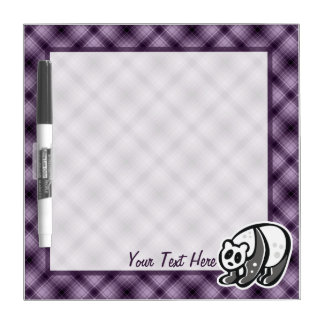 Cute Panda; Purple Dry-Erase Board