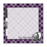 Cute Panda; Purple Dry Erase Whiteboard