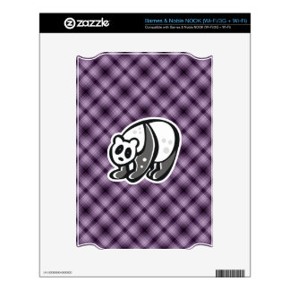 Cute Panda; Purple Skin For NOOK