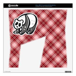 Cute Panda; Red Plaid Skins For Xbox 360 S