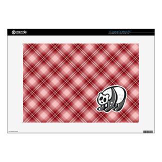 Cute Panda; Red Plaid Laptop Skins
